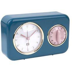 Zegar stojący NOSTALGIA blue z timerem kuchennym by pt,, kolor Zegar