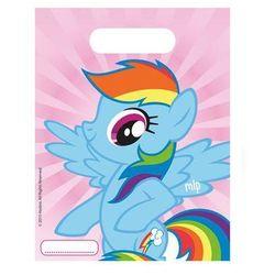 Prezentowe torebki urodzinowe my little pony rainbow - 6 szt. marki Procos disney