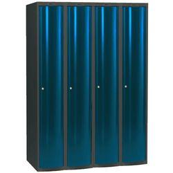 Szafa do przebieralni 4x1 schowek w pionie Kolor drzw: Niebieski metalizowany