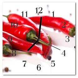 Tulup.pl Zegar szklany kwadratowy papryczka chilli