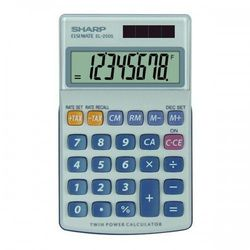 Kalkulator SHARP Handheld Box EL250S Srebrny, EL250S