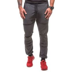 Antracytowe spodnie dresowe męskie Denley 0469 - ANTRACYTOWY