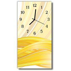 Zegar Szklany Pionowy Sztuka Grafika abstrakcja żółty