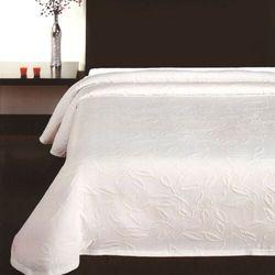 Forbyt Narzuta na łóżko Floral biały, 240 x 260 cm, 205218