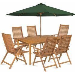 calypso 6 z parasolem, zielony marki Fieldmann