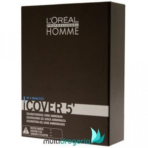 L'Oréal Professionnel Homme Color farba do włosów 3 szt. odcień 4 Medium Brown (Color Gel Ammoniak-free) 3x50 ml, kolor L'Oréal