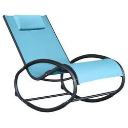 Fotel bujany, niebieski waver1 marki La siesta