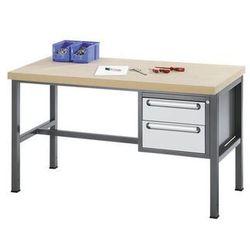 Stół warsztatowy z płytą MDF,2 szuflady, wys. 1 x 150, 1 x 180 mm