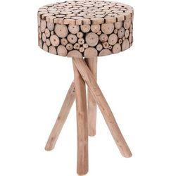 Home styling collection Stolik okazjonalny, kawowy z drewna tekowego 36x61 cm