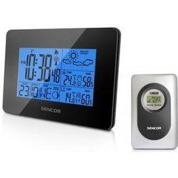 Sws 50 wh biala stacja pogody wew/zew temperatura/wilgotność duzy wyswietlacz led marki Sencor