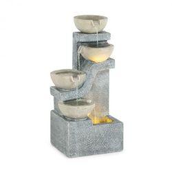 Blumfeldt delos, fontanna, led, do użytku wewnątrz i na zewnątrz, kabel o długości 5 m, cement, szara (4060656230295)