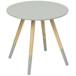 Drewniany stolik kawowy MILEO stolik okazjonalny - kolor szary, Ø 48 cm (3560239223337)