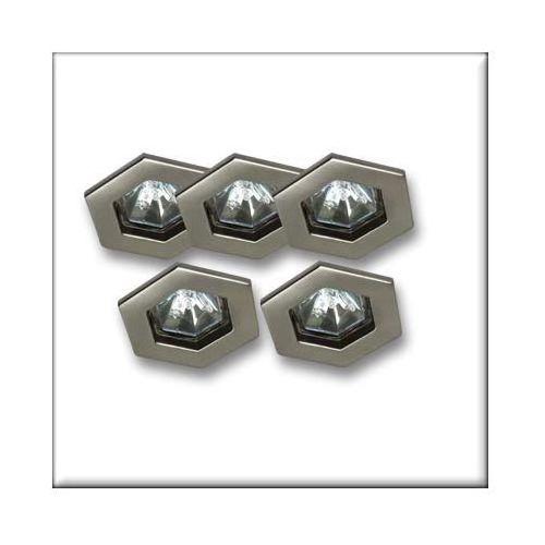 TIP oprawy wbudow. Hexa, 5 szt., żelazo satyn., 5x20W - z kategorii- pozostałe oświetlenie