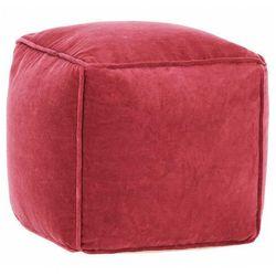 Różowa pufa tapicerowana siedzisko - Bazali 3X