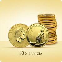 Australijski Kangur 1 uncja złota x 10