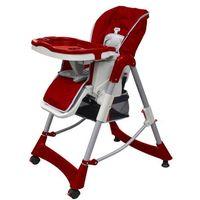 krzesełko dla dzieci do karmienia, z regulowaną wysokością, bordo marki Vidaxl