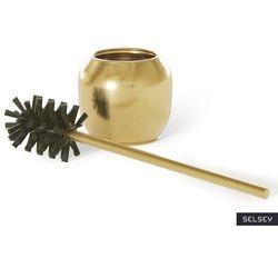 SELSEY Szczotka do WC Kegon złota (5903025661384)