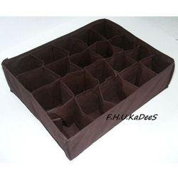 Organizer do szuflady na bieliznę z 20 przegródkami Brązowy - produkt dostępny w KaDeeS