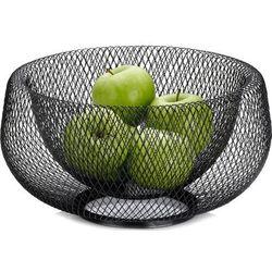 Kosz na owoce, metalowa, czarna siateczka marlo kela (ke-12511), KE-12511 (14160447)