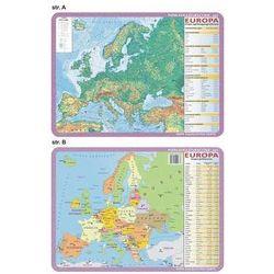 Podkładka edukacyjna. Europa - mapa ogólnogeograficzna i polityczna - sprawdź w wybranym sklepie