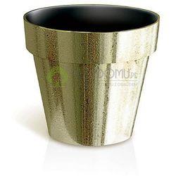 Doniczka Cube chrome DGC170GF faktura złoty