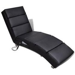 elektryczny fotel do masażu, czarny marki Vidaxl