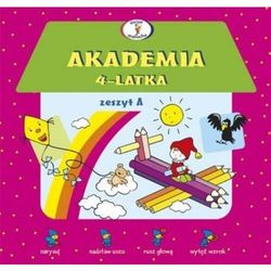 Akademia 4-latka zeszyt A, książka w oprawie broszurowej