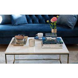Stolik kawowy marmurowy shiny marki The brooklyn loft