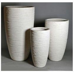 Miloo Donica ogrodowa biała 77cm medium, kategoria: doniczki i podstawki