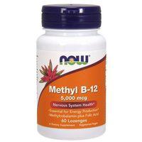 Now Foods Witamina Methyl B-12 5,000mcg 60 tabletek - tabletki witaminy i minerały