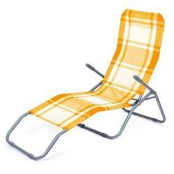 leżak plażowy składany, krata pomarańczowy, marki Happy green