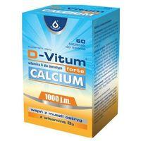 D-Vitum forte Calcium (Witamina D3 1000IU + Wapń z ostryg) 60 tabl. (lek witaminy i minerały)