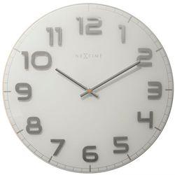 Nextime:: Zegar Ścienny Classy Large ø 50cm Biały, kolor biały