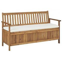 Drewniana ławka ogrodowa Canat - brązowa, vidaxl_45911