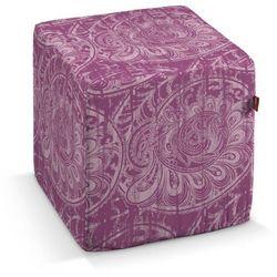 pokrowiec na pufę kostke, ciemny pudrowy róż, kostka 40x40x40 cm, mirella marki Dekoria