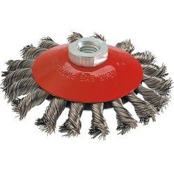 Szczotka druciana GRAPHITE 57H589 tarczowa odgięta 100 mm x M14 Inox z kategorii Pozostałe narzędzia elektryczne