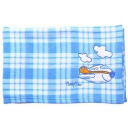 Babyono Kocyk polarowy - niebieska kratka - niebieska kratka