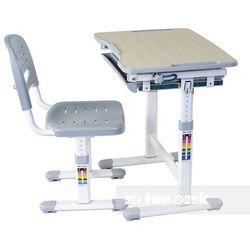 Piccolino Grey - Ergonomiczne, regulowane biurko dziecięce + krzesełko FunDesk