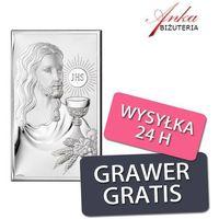 Obrazek srebrny - jezus - pamiątka pierwszej komunii św 9*15 cm marki Valenti & co