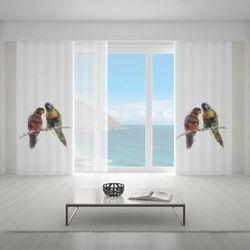 Zasłona okienna na wymiar - COLORFUL PARROTS