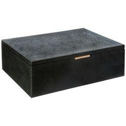 Drewniane pudełko na biżuterię w kolorze czarnym, organizer na biżuterię, pudełko na kosmetyki, kuferki na biżuterię, duża kasetka (3560239698210)