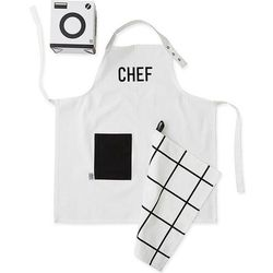 Zestaw małego szefa kuchni design letters