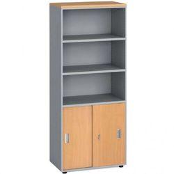 Szafa biurowa, przesuwne drzwi na 2 półki, 1781x800x420 mm, buk