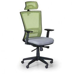 Krzesło biurowe ALMERE, zielono/szare
