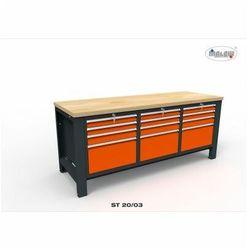 """Stół narzędziowy st 20/03 """"trójka"""" do warsztatu metalowy na klucz marki Malow"""
