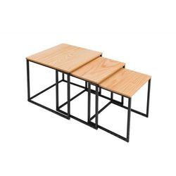 Zestaw stolików TRIO SLIM dąb - podstawa czarna, BST09SWEI/CTA1-1 (10194310)