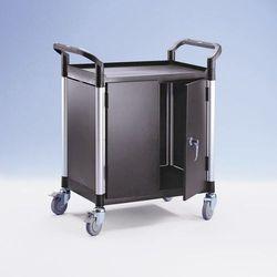 Wózek uniwersalny, ze ściankami z metalu,z 2 ściankami bocznymi, 1 ścianką tylną, drzwiami skrzydłowymi