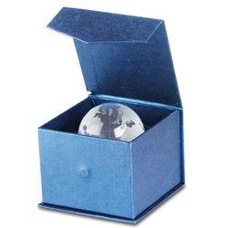 MY WORLD Ciężka szklana kula z wzorem kuli ziemskiej, może służyć jako przycisk do papieru