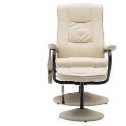 Fotel do masażu gabino – skóra syntetyczna – kolor kość słoniowa marki Vente-unique