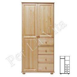 Szafa drewniana D2 Nr3 WIESZAK/PÓŁKI